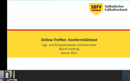 Online-Sitzung Videoszenen und Konformitätstest 1